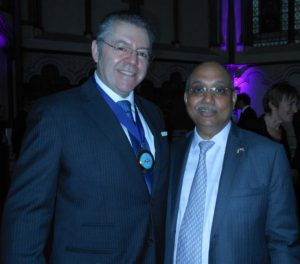 Mr Chandrajit Banerjee, Director General of the Confederation of Indian Industry & David Stringer-Lamarre