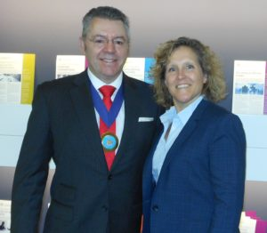 Dean of Cass Business School, Marianne Lewis & David Stringer-Lamarre