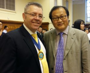 Minister Counsellor Jin Zu of the Chinese Embassy and David Stringer-Lamarre