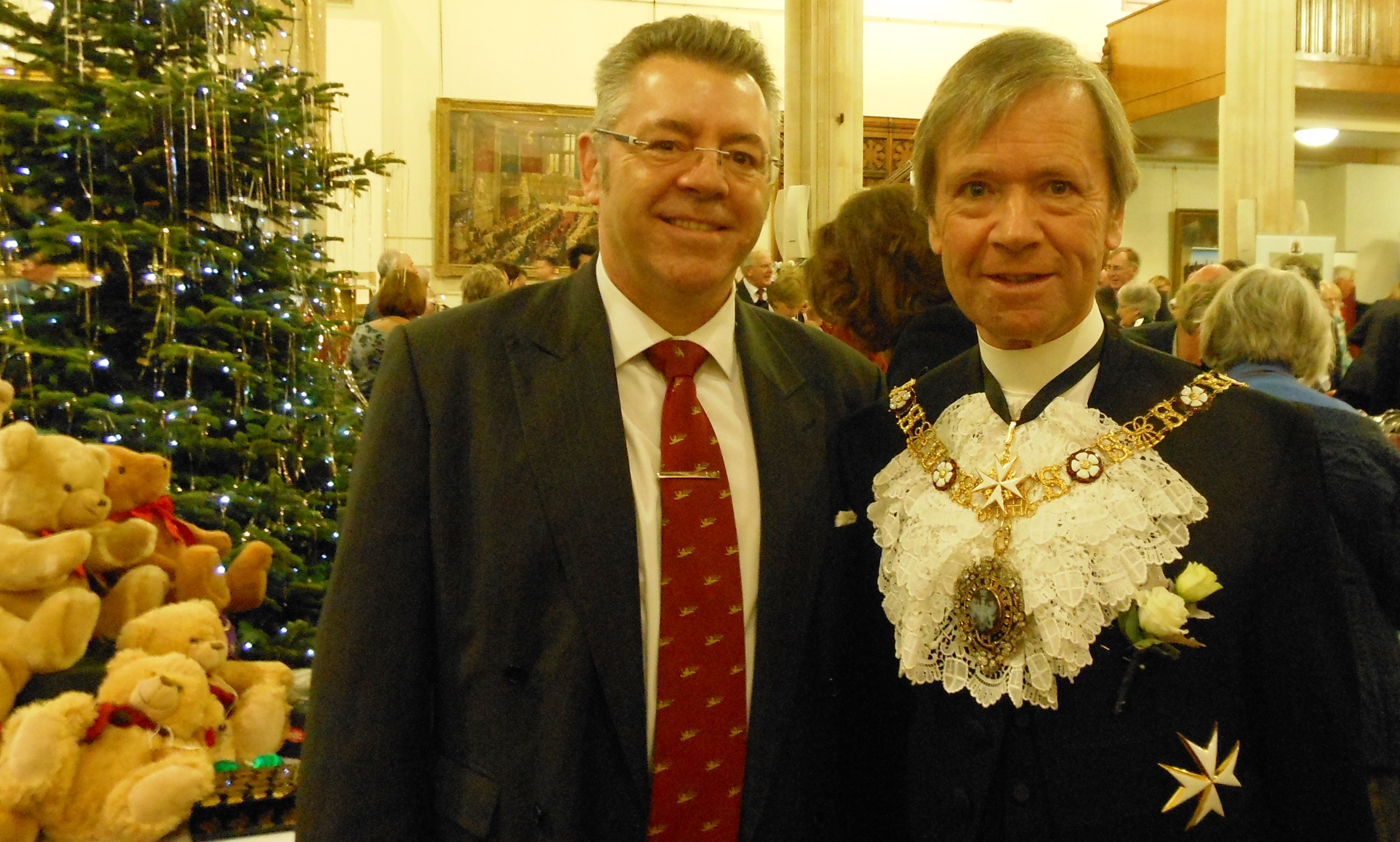 The Rt Hon the Lord Mayor Alderman the Lord Mountevans and David Stringer-Lamarre