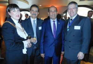 Left to right: Sheriff of the City of London Fiona Adler, Ashraf K Meleka, HE Abdulrahman Ghanem Almutaiwee CVO, Ambassador to the United Arab Emirates and David Stringer-Lamarre