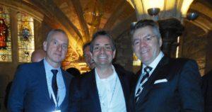 Left to right: Garry Bernstein, ABS Exchange, Lawrence Wintermeyer & David Stringer-Lamarre