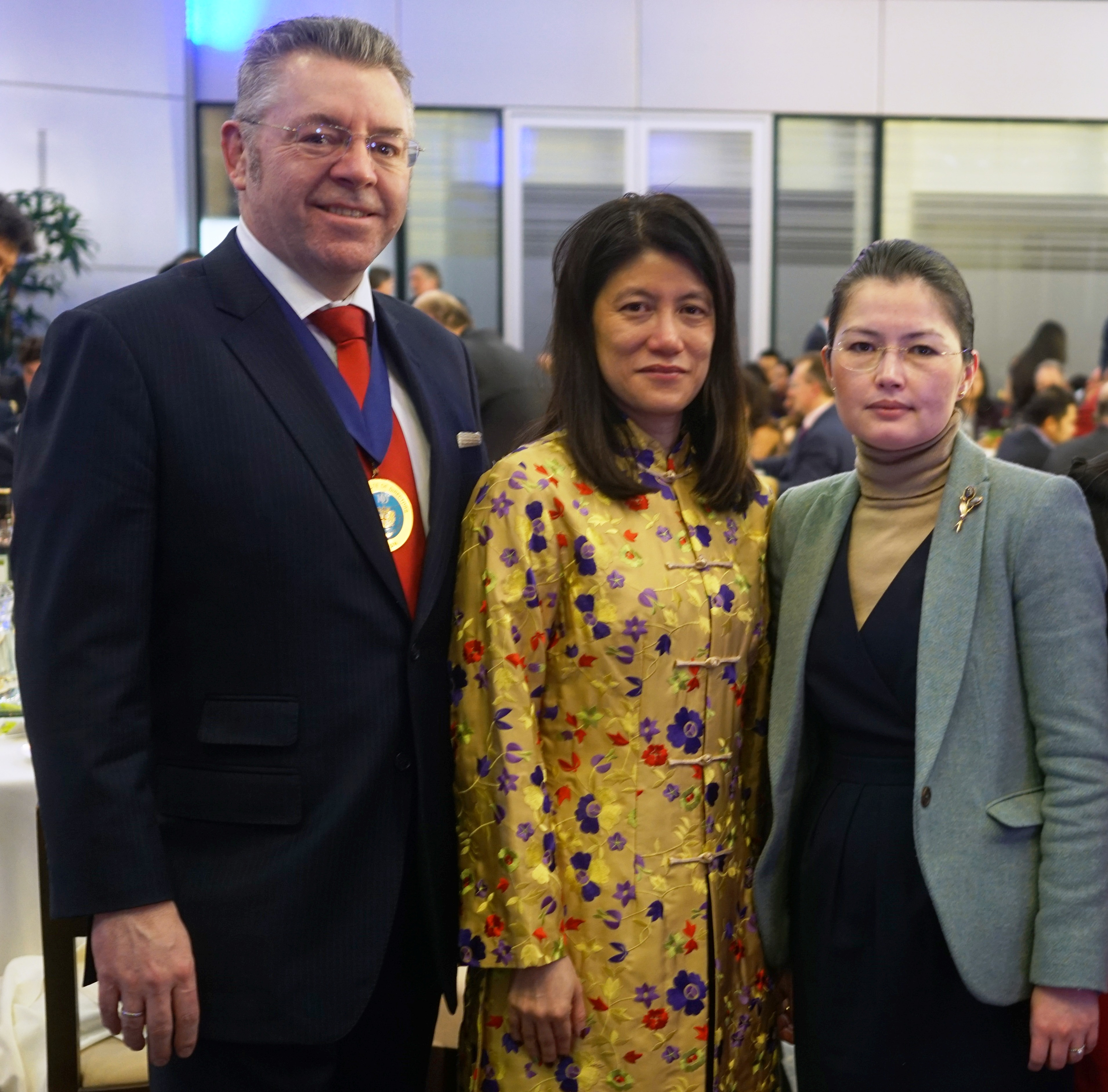 Right to left: Mrs Ainur Karbozova, First Secretary, Embassy of Kazakhstan, HE Ms Foo Chi Hsia, the High Commissioner of Singapore and David Stringer-Lamarre
