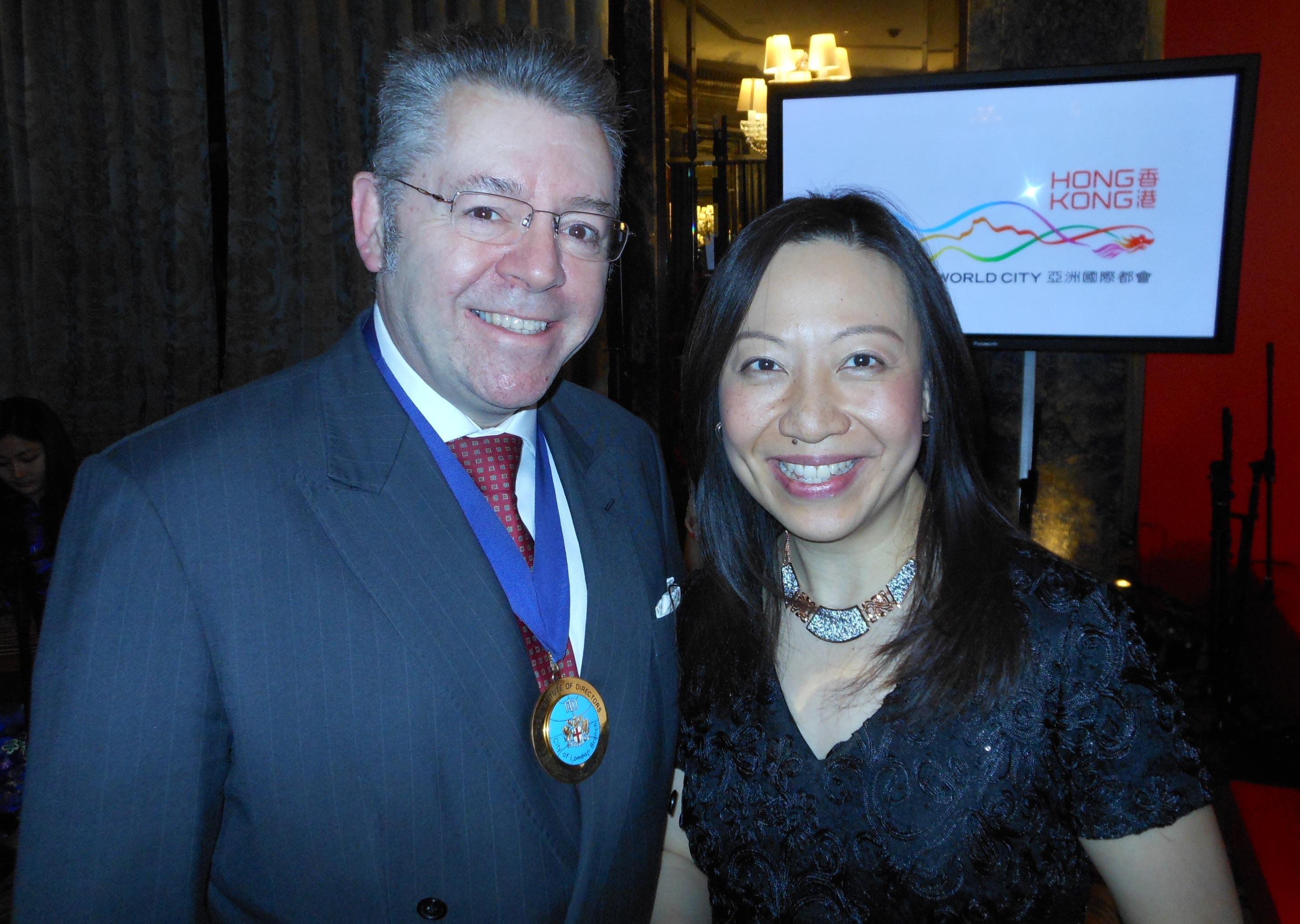 Priscilla To, Director General of HKETO & David Stringer-Lamarre