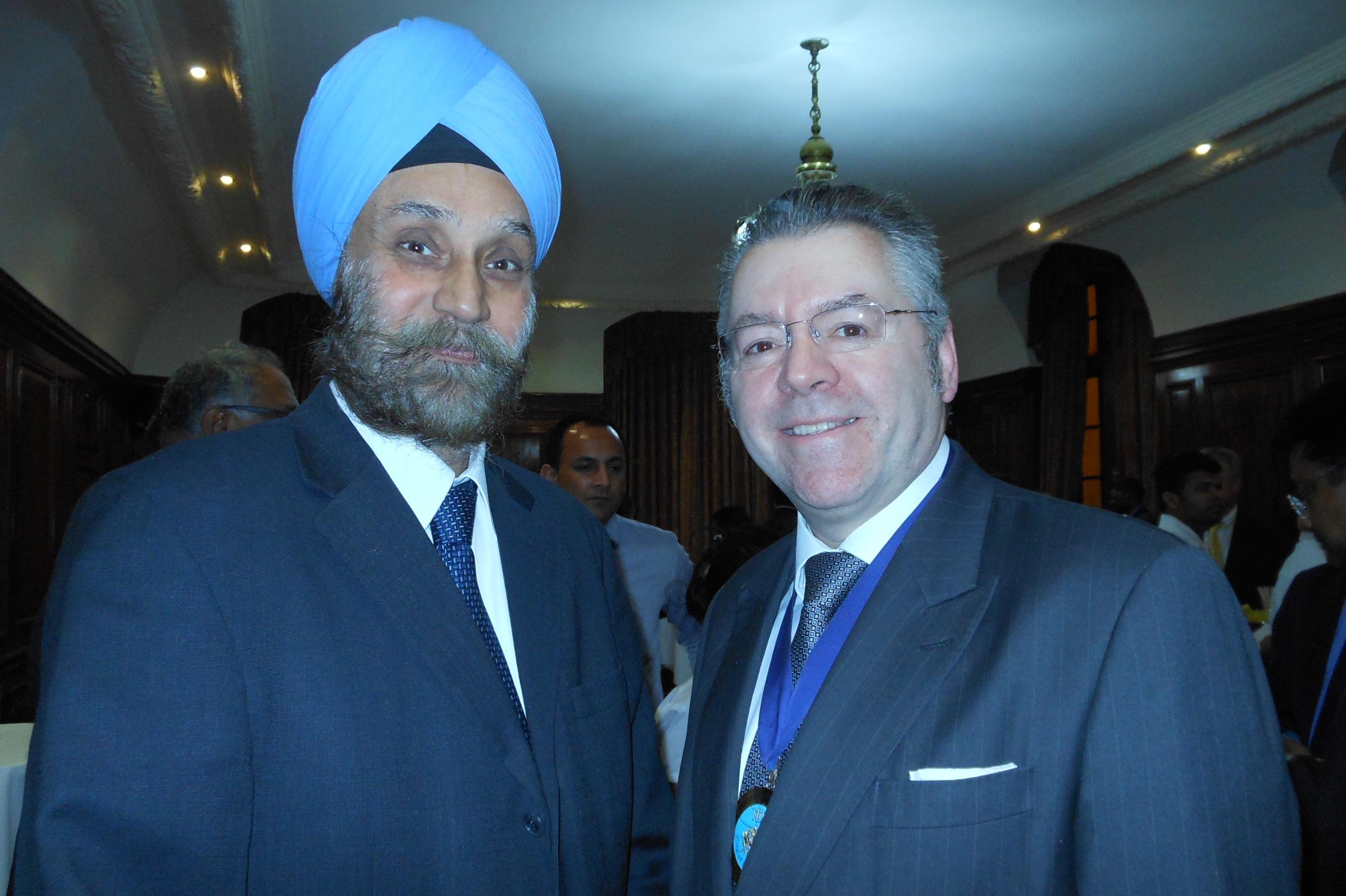 HE Navtej Singh Sarna, High Commissioner of India & David Stringer-Lamarre