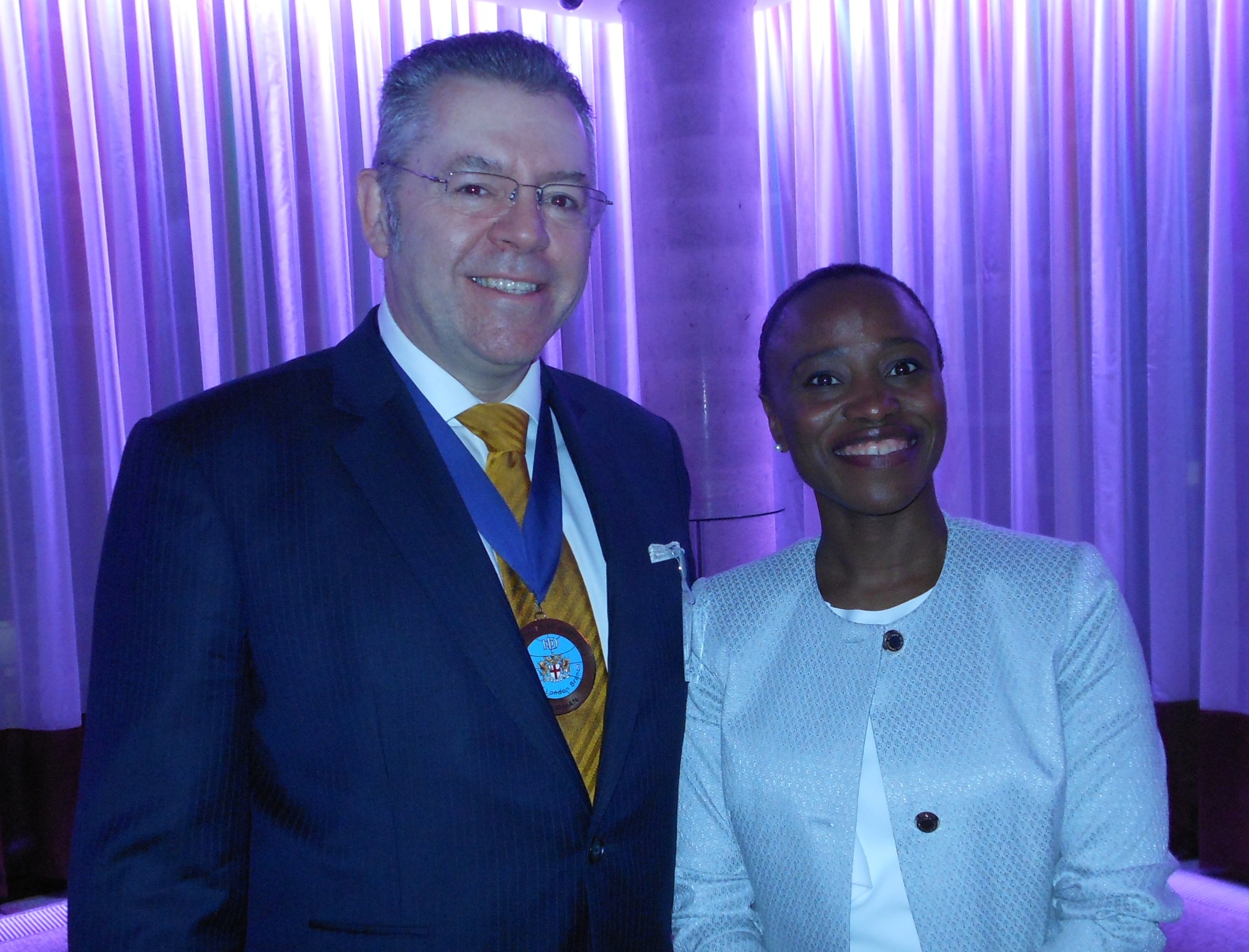 President of the CICCGB, Mrs Kady Doumbia & David Stringer-Lamarre