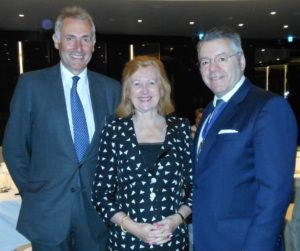 Right to left: Alasdair Nicholls, Chief Executive, Native Land, Lady Victoria Borwick & David Stringer-Lamarre