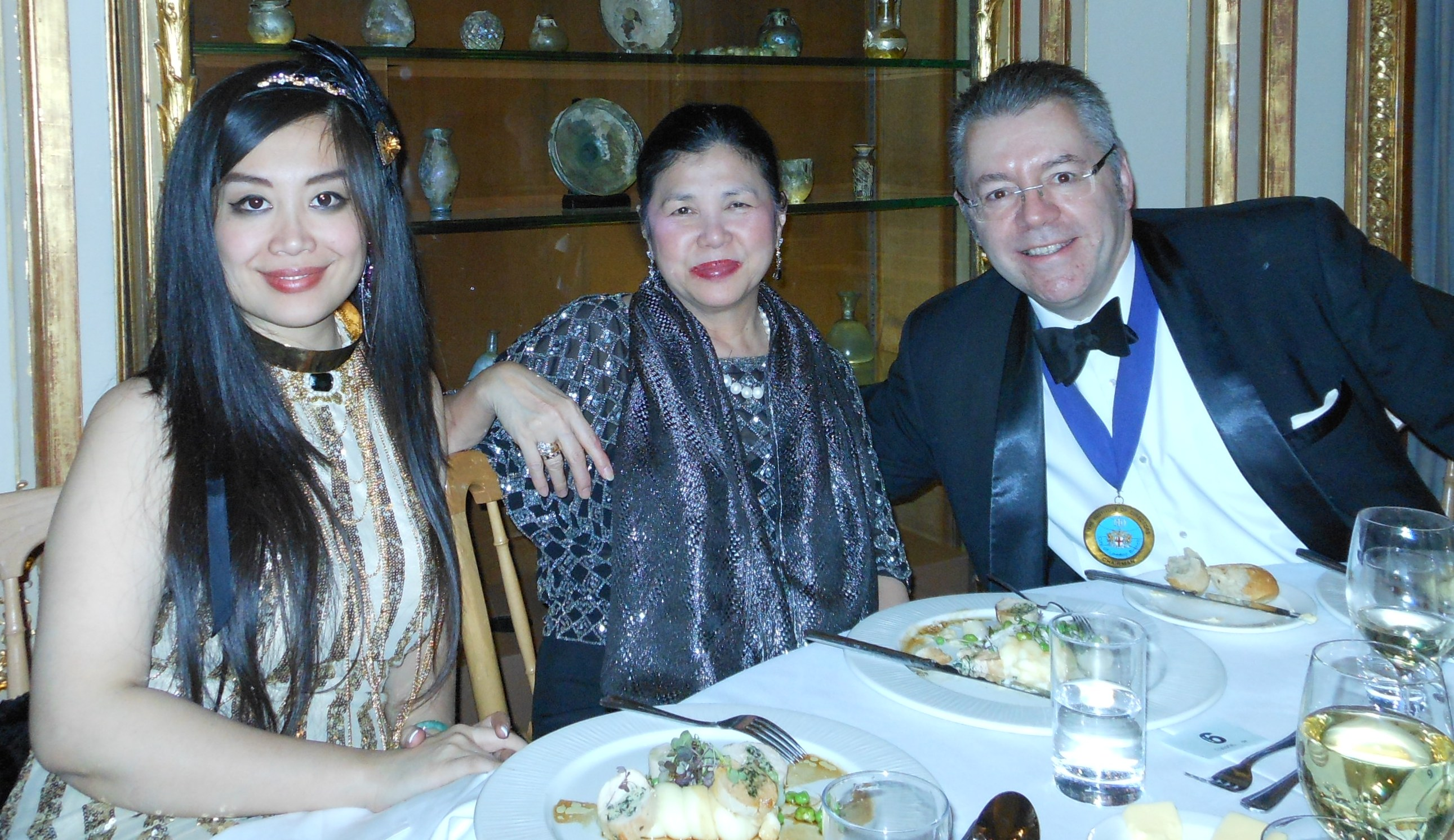 Left to right: Grace Bian, Mei Sim Lai OBE DL and David Stringer-Lamarre