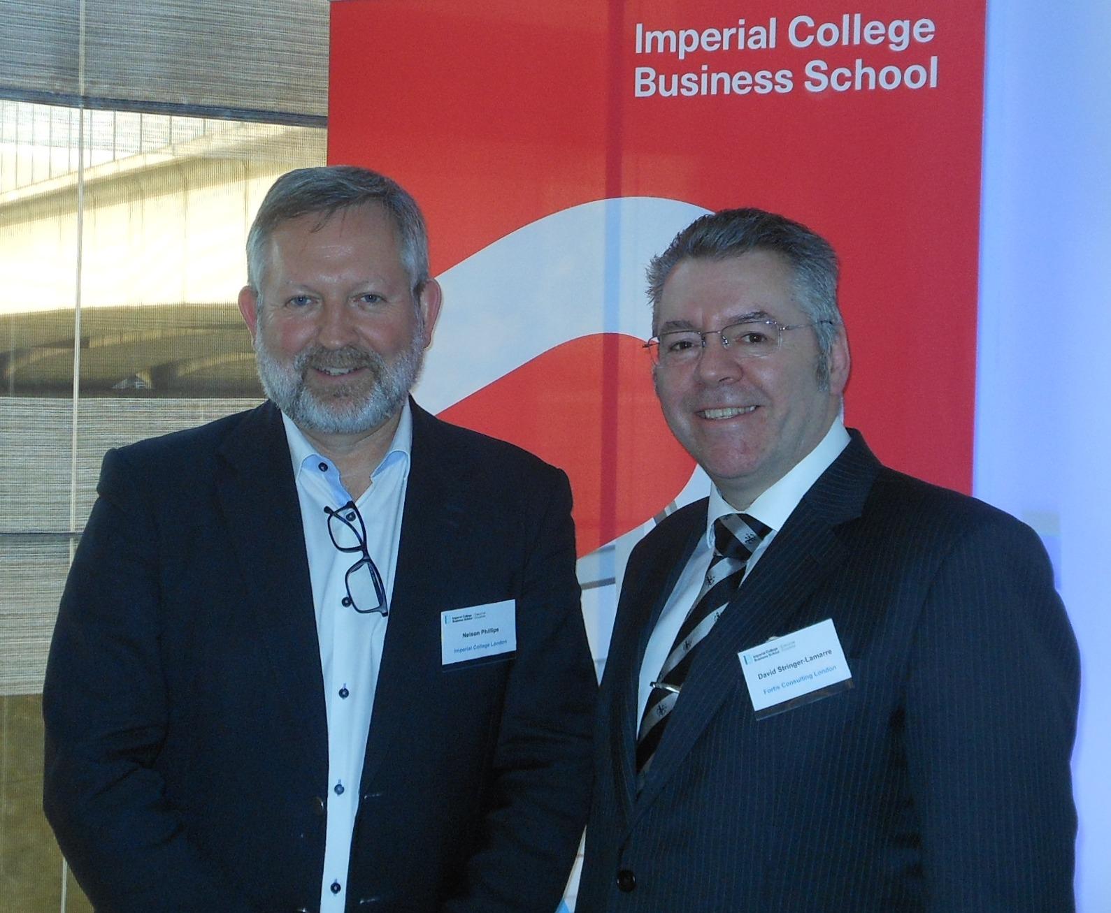Left to right: Professor Nelson Phillips & David Stringer-Lamarre