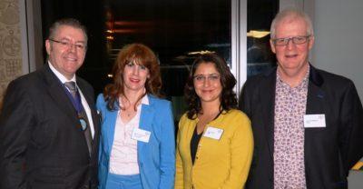 Right to left: Ken Shuttleworth, Susan Emmett, Marianne Fredericks and David Stringer-Lamarre. Photo by See Li