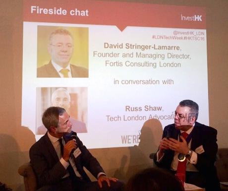 Russ Shaw, Chairman of Tech London Advocates & David Stringer-Lamarre