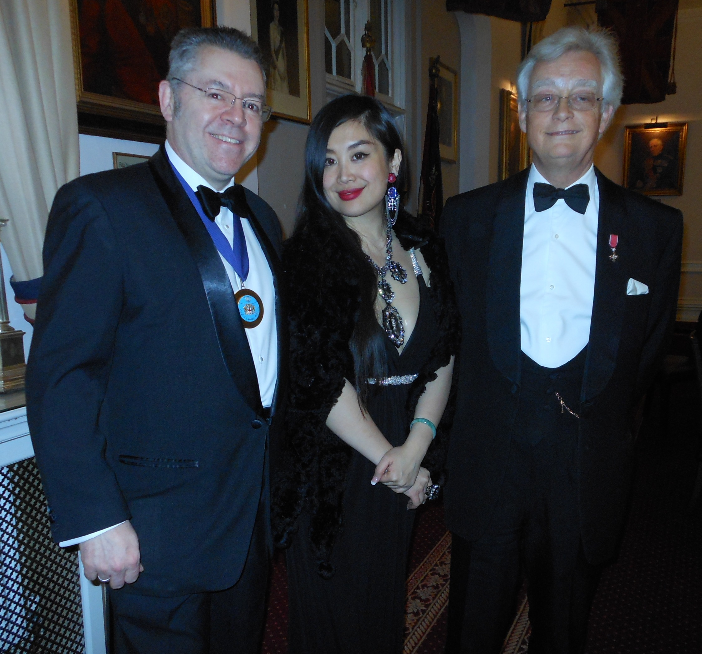 Left to right: Michael Hockney OBE, Grace Bian and David Stringer-Lamarre
