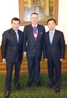 Right to left: Mr Griffiths, Mr Stringer-Lamarre & Mr Wen