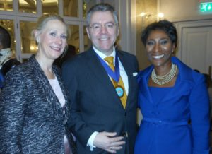 Right to left: Janet Thomas, WIBF President, David Stringer-Lamarre & Melanie Seymour, WIBF Vice President